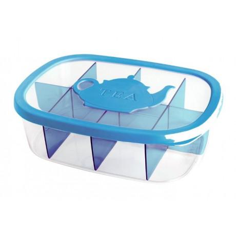 صندوق لحفظ أكياس الشاي 176 أزرق