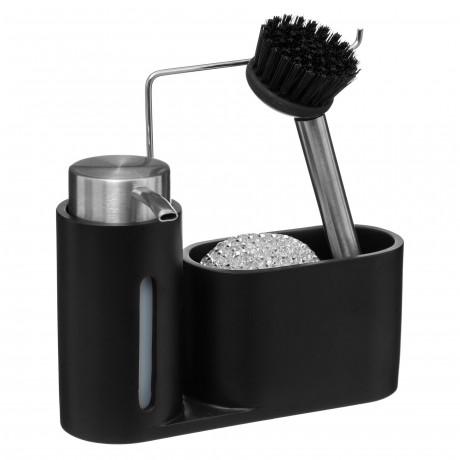 موزع صابون + فرشاة أطباق 5five أسود 167702