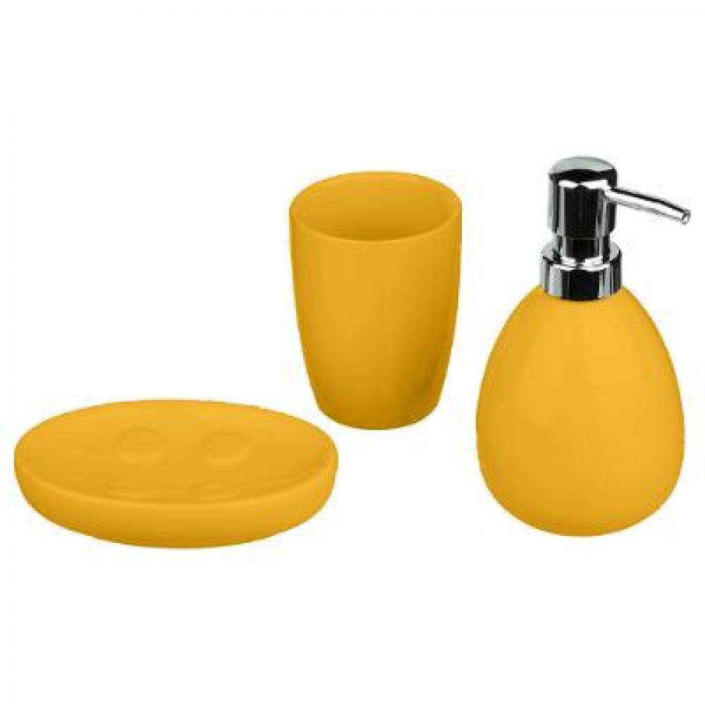 طقم حمام 5five 3 قطع 155951 لون أصفر