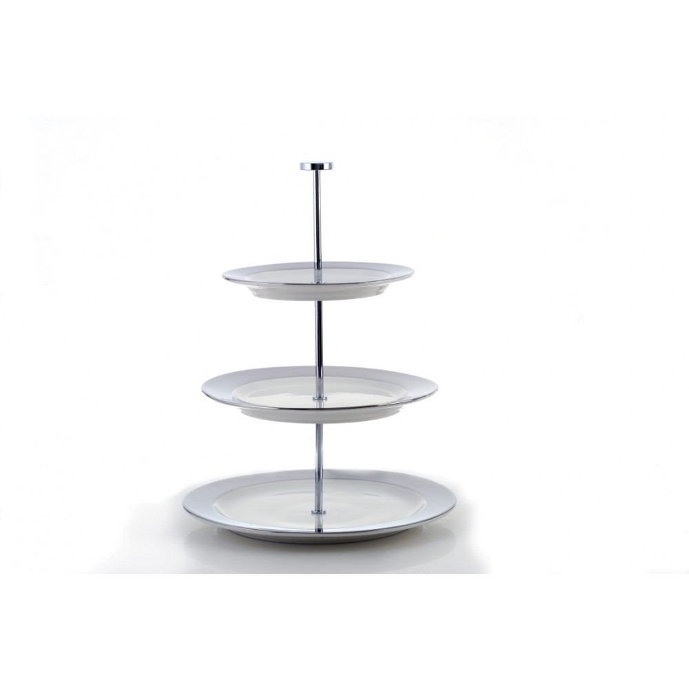 NA 3 Floors Silver Serving Plates 11145841
