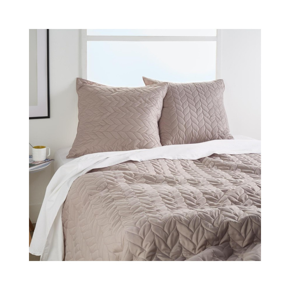 غطاء سرير جدلة بيج + 2غطاء وسادة 156084D من Atmosphera