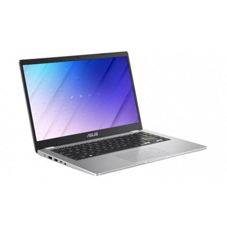 جهاز حاسوب محمول 14 انش من ASUS فضي معالج Intel Celeron مع ذاكرة تخزين 64 جيجابايت نظام تشغيل ويندوز 10 موديل E410MA-EK018TS